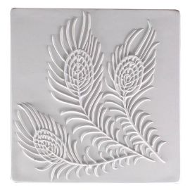 Peacock Tile Texture Mould 7x7 inches