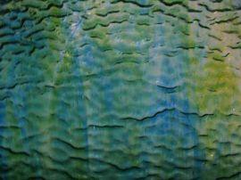 Wissmach Streaky - Dark Blue, Yellow and Green Textured