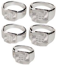 rings silver 5ppk