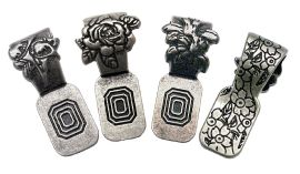 Antique Silver Flower Art Bails - 12 Pack