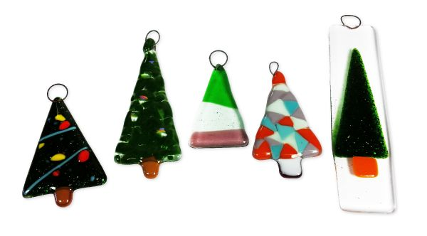 fused glass christmas decorations day - Glass Christmas Decorations