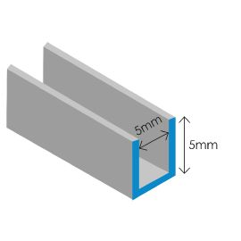 Lead Came: 5x5mm U section