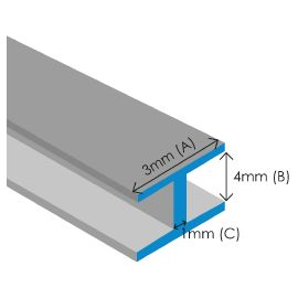 """Lead Came 3mm (1/8"""") x 4mm Flat"""