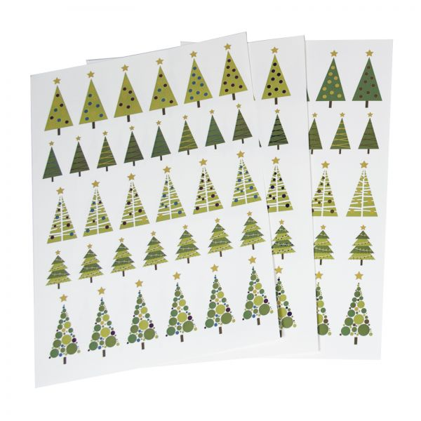 cgg decals christmas trees - Christmas Decals For Glass