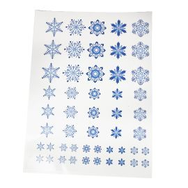 Snowflake decals blue