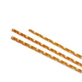 Orange, Yellow & Red twisted cane