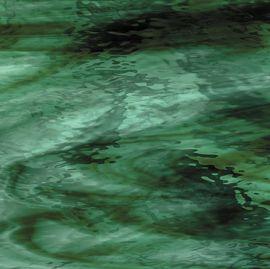 Oceanside Waterglass: Deep Olive/Sea Green streaky-96