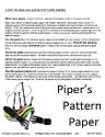 Pipers pattern paper back page