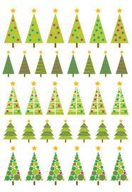 Christmas trees multi
