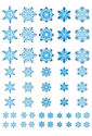 NEW Snowflakes blue