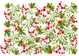 Christmas greenery background
