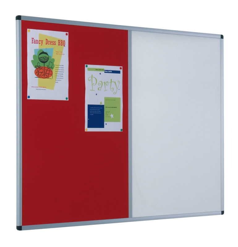 An image of Dual Aluminium Framed Noticeboards - Whiteboards