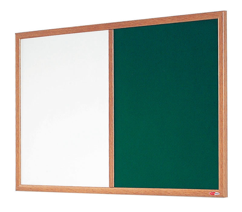 An image of Eco-Friendly Dual Noticeboard & Whiteboard - Whiteboards