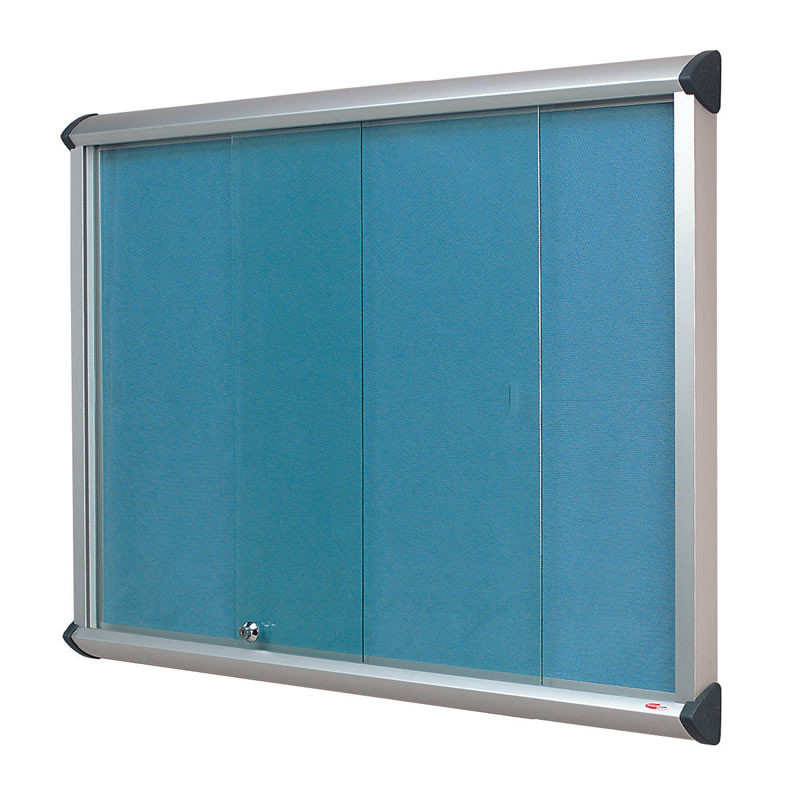 An image of Shield Sliding Door Flame Resistant Showcases - Lockable Noticeboa...