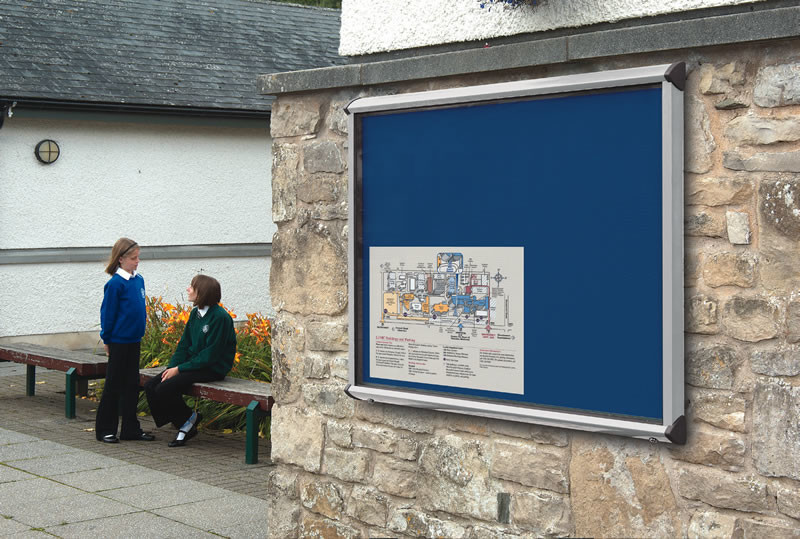 An image of Shield Lockable Outdoor Noticeboards - Outdoor Noticeboards