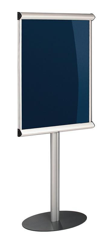 An image of Shield Freestanding Showline Lockable Noticeboard - Lockable Notic...