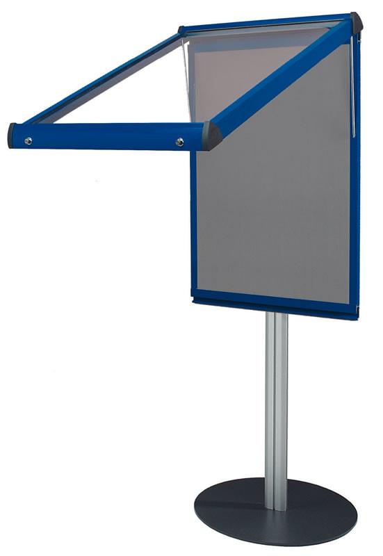 An image of Shield Freestanding Deluxe Lockable Noticeboards - Lockable Notice...