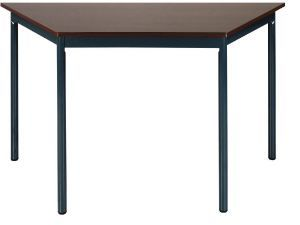 TABLE POLYVALENTE Trapèze Imitationwengé Pied Rond Anthracite