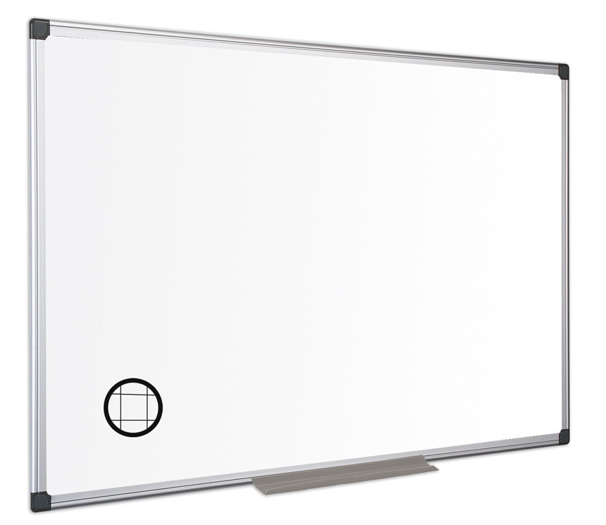 An image of Pricebuster Gridded Magnetic Whiteboard - Whiteboards