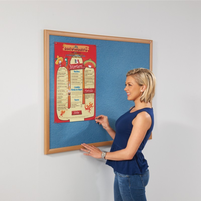 An image of Eco Noticeboard with Light Oak Frame - Eco Noticeboards