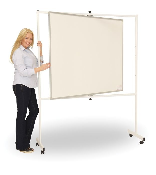 An image of PV Deluxe Pivoting Mobile Whiteboard - Whiteboards