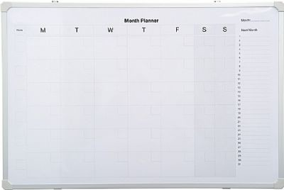 An image of PV Monthly Planner - Printed Whiteboards