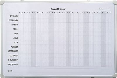 An image of PV Annual Planner Magnetic Board - Printed Whiteboards