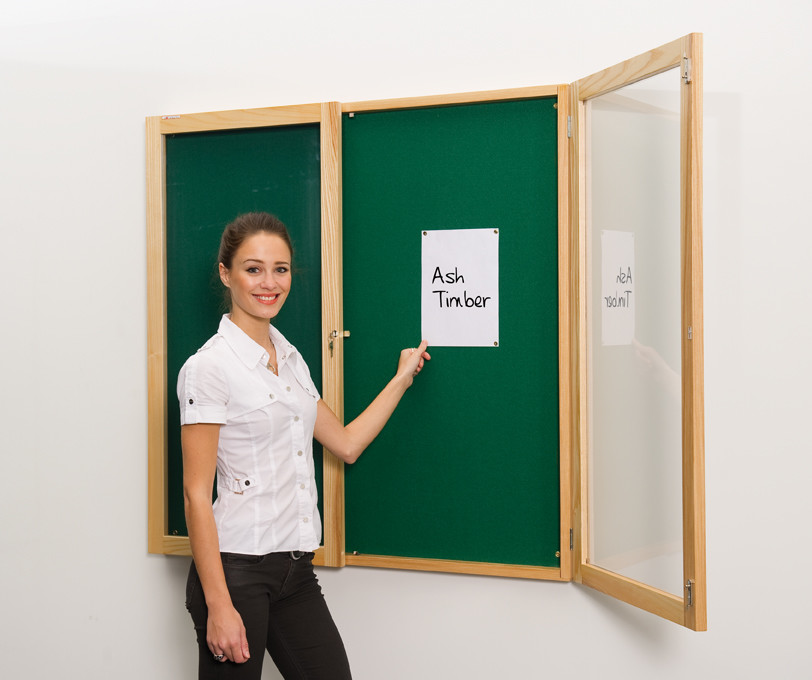 An image of Decor Wooden Framed Lockable Noticeboards - Lockable Noticeboards