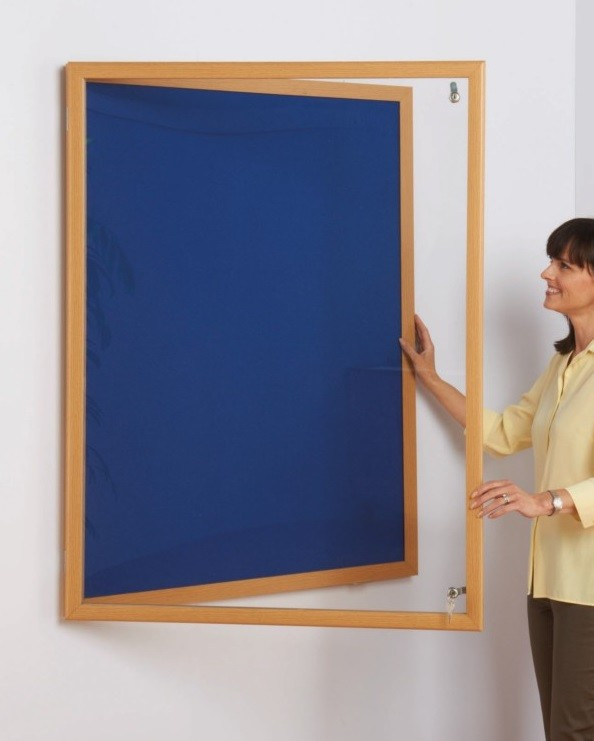 An image of Eco Wood Framed Anti Tamper Noticeboards - Lockable Noticeboards