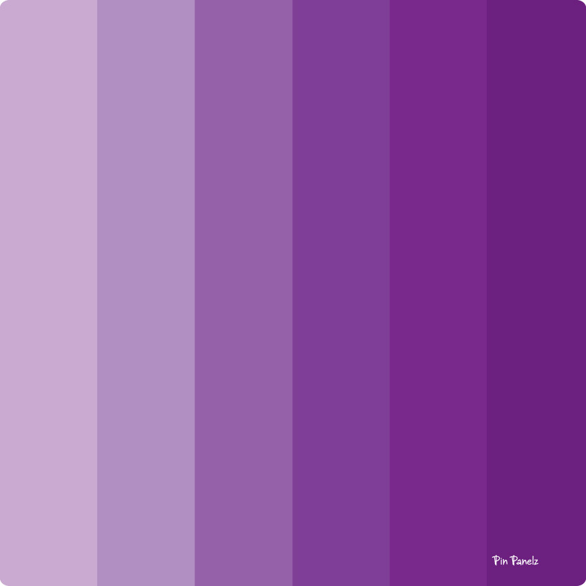 An image of Pin Panelz Shades of Purple - Shaped Noticeboards