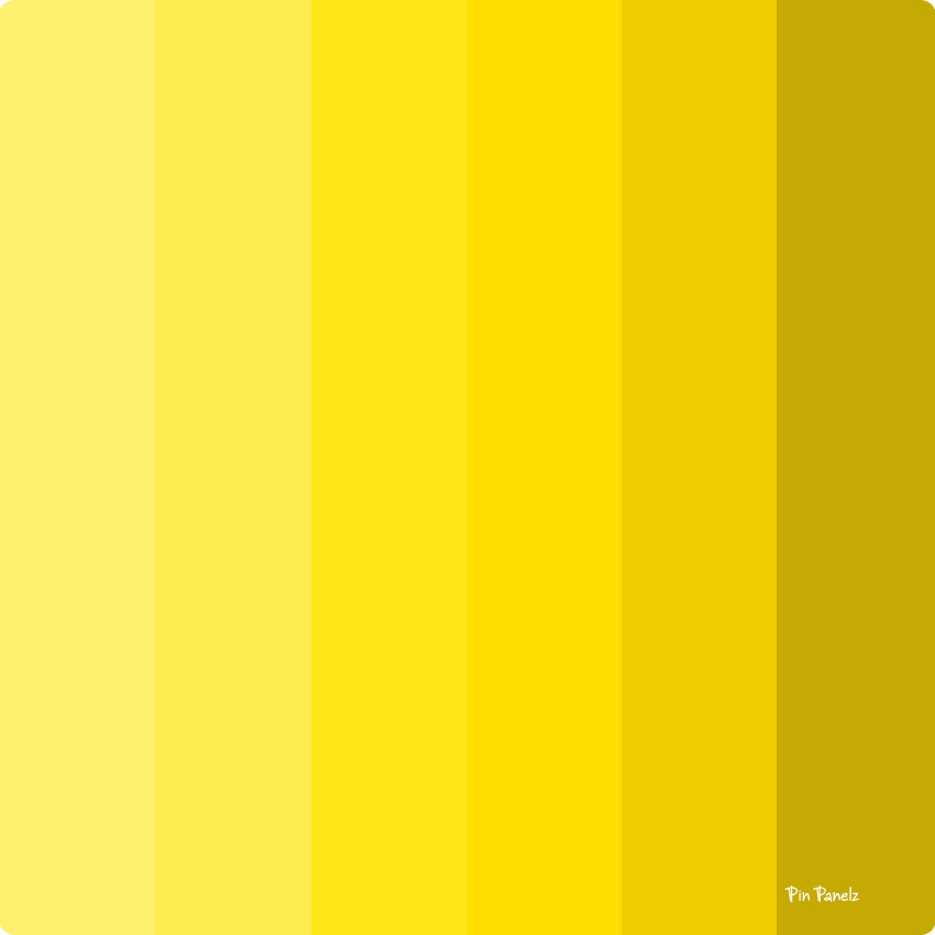 An image of Pin Panelz Shades of Yellow - Shaped Noticeboards