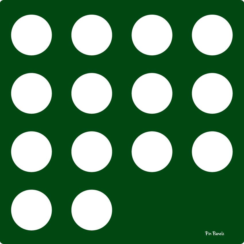 An image of Pin Panelz Green Circles - Shaped Noticeboards