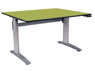 Height Adjustable Square Green - Angled