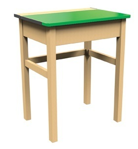 Single Locker Desk Greentop