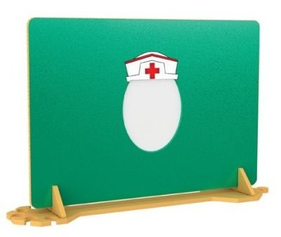 An image of Nurse Hat Mirror Room Divider - Room Dividers & Panels