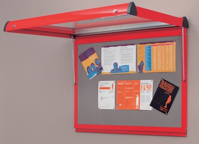 An image of Shield Lockable Metal Framed Showcases - Lockable Noticeboards