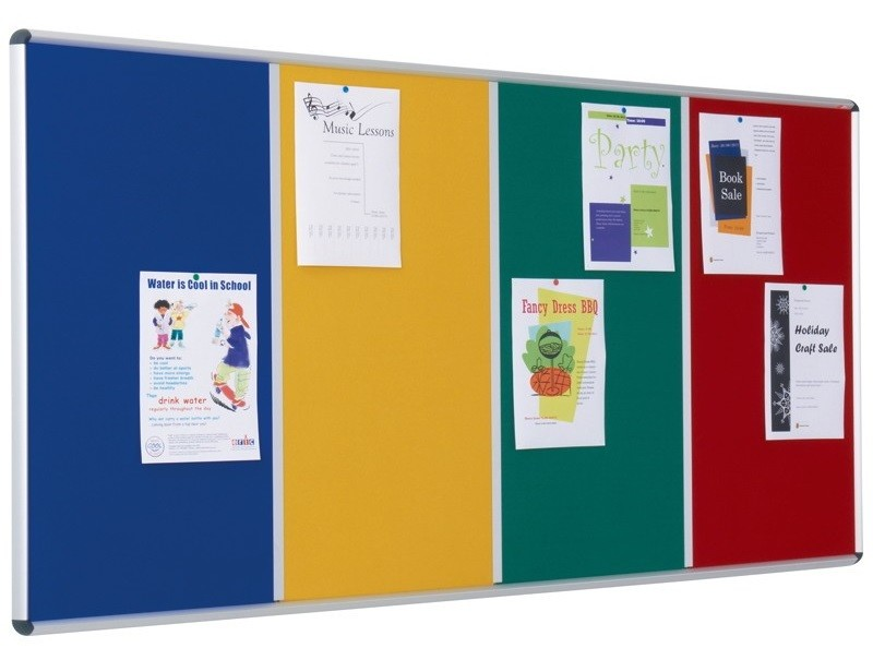 An image of Shield Multibank Flame Resistant Noticeboards - Fire Retardant Not...