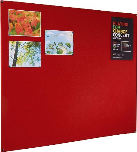 An image of Firecover Unframed Wrapped Noticeboard - Fire Retardant Noticeboar...
