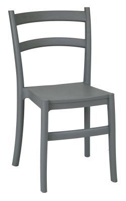 Cleo Stackable Poly Chair Grey