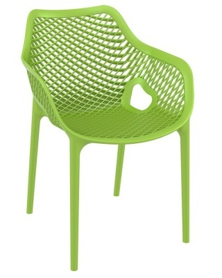 Percy Outdor Plastic Chair Lime Green