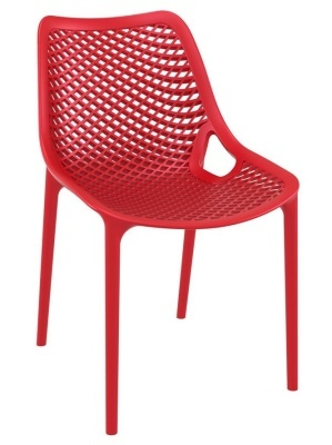 Percy Red Outdoor Plastic Side Chair