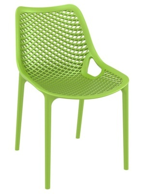 Percy Lime Green Outdoor Plastic Sidechair