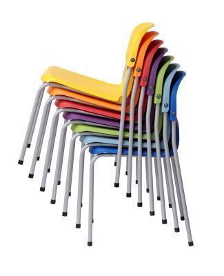 Chair 2000 Classroom Chair Stack In Array Of Colours From The Side