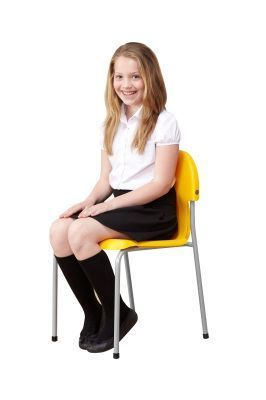 Chair 2000 Classroom Chair With A Girl Sitting On A Yellow-chair