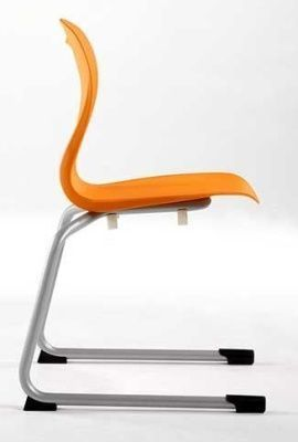 Solar Rear Cantilever General Purpose Chair In Orange From The Side