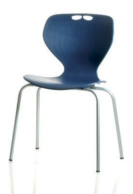 Matal Poly Multi Purpose Chair In Blue From The Front