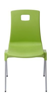 Stylus Poly Education Chair In Green Front View