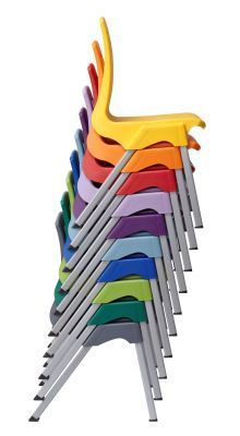 Stylus Poly Education Chair In Mulitiple Coulours Front View
