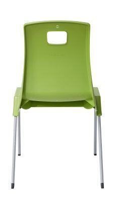 Stylus Poly Education Chair In-green With View From Behind
