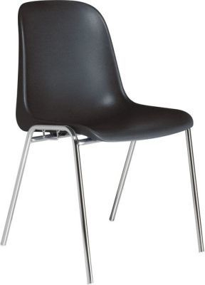 Tensa Single Shell Poly Chair In Black